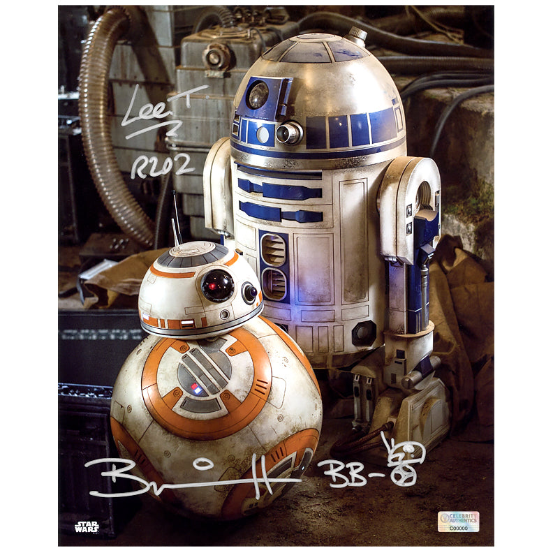 Brian Herring and Lee Towersey Autographed Star Wars: The Force Awakens Droids 8×10 Photo