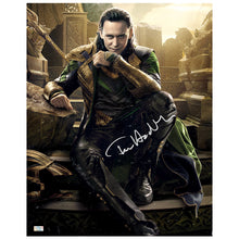 Load image into Gallery viewer, Tom Hiddleston Autographed Loki Master of Mischief 16x20 Photo