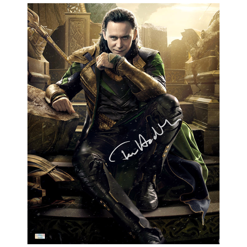 Tom Hiddleston Autographed Loki Master of Mischief 16x20 Photo