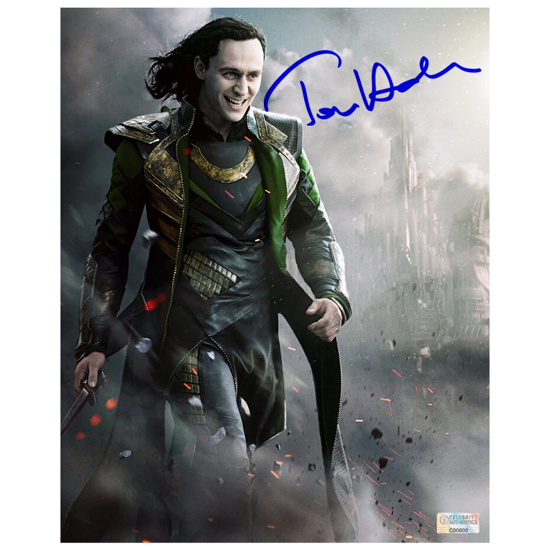 Tom Hiddleston Autographed Loki Thor The Dark World 8x10 Photo