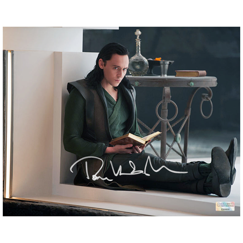 Tom Hiddleston Autographed Thor: The Dark World Loki Captured 8x10 Photo