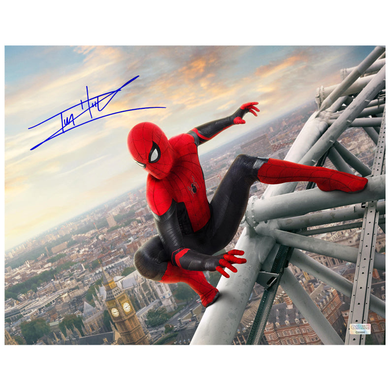 Tom Holland Autographed Spider-Man Far From Home 11x14 Photo