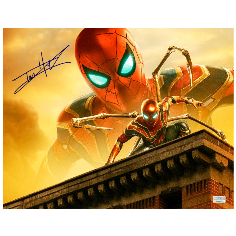Tom Holland Autographed Spider-Man Iron Spider 11x14 Photo