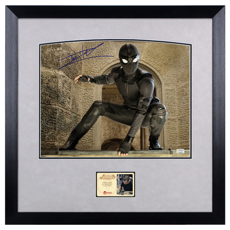 Tom Holland Autographed Spider-Man Stealth Suit 11x14 Framed Photo