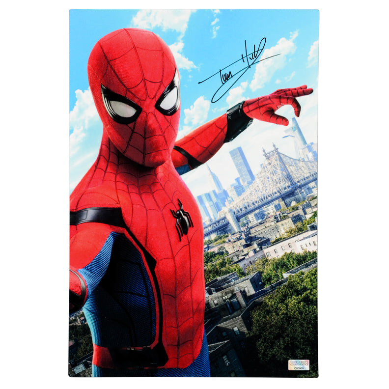 Tom Holland Autographed Spider-Man 12×18 CinaPanel
