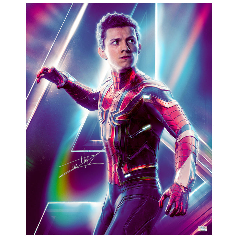 Tom Holland Autographed Avengers Infinity War Spider-Man 16x20 Photo