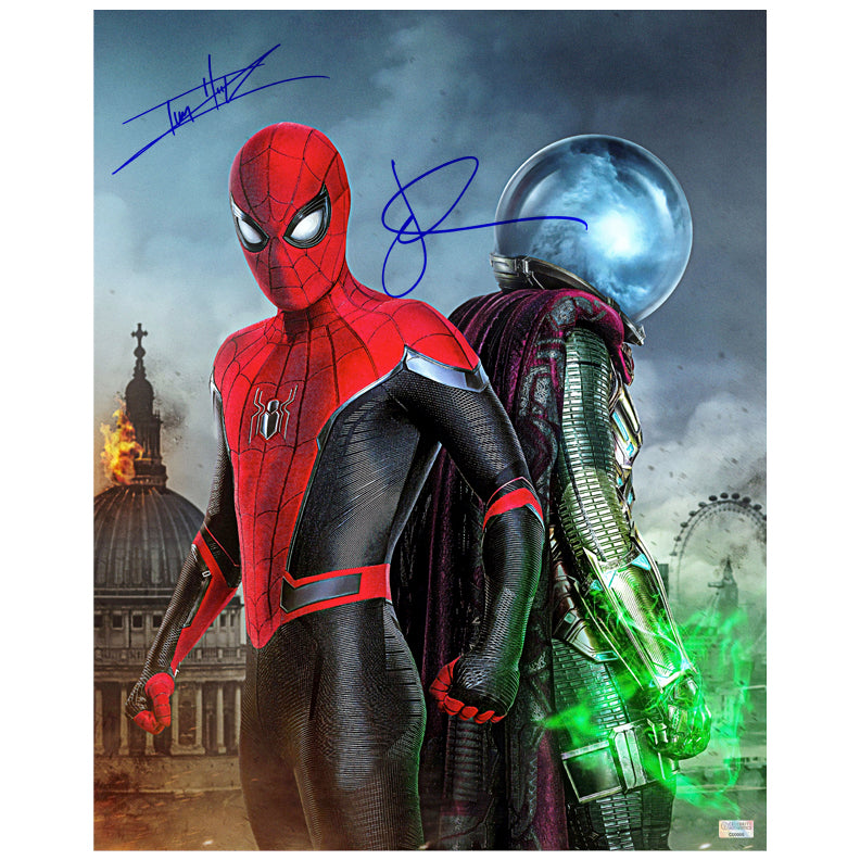 Jake Gyllenhaal, Tom Holland Autographed Spider-Man: Far From Home Spider-Man and Mysterio 16×20 Photo