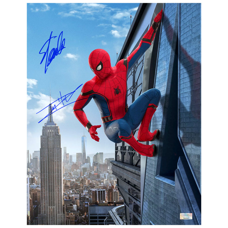Stan Lee, Tom Holland Autographed Spider-Man: Homecoming 11x14 Photo