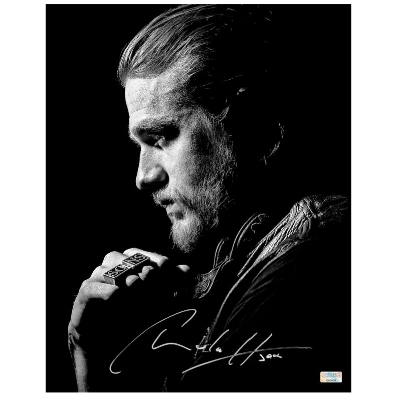 Charlie Hunnam Autographed Sons of Anarchy Jax Teller 11x14 Black & White Photo