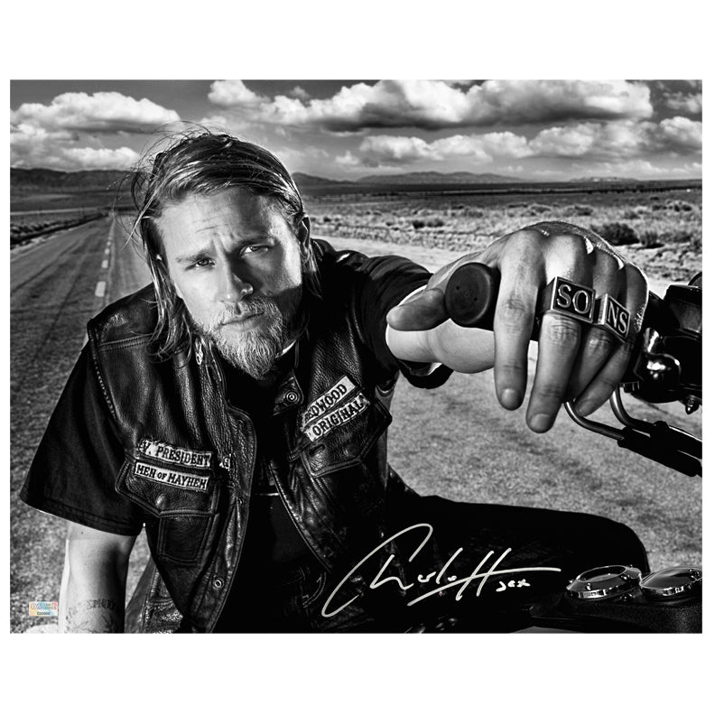Charlie Hunnam Autographed Sons of Anarchy Open Road 16x20 Photo