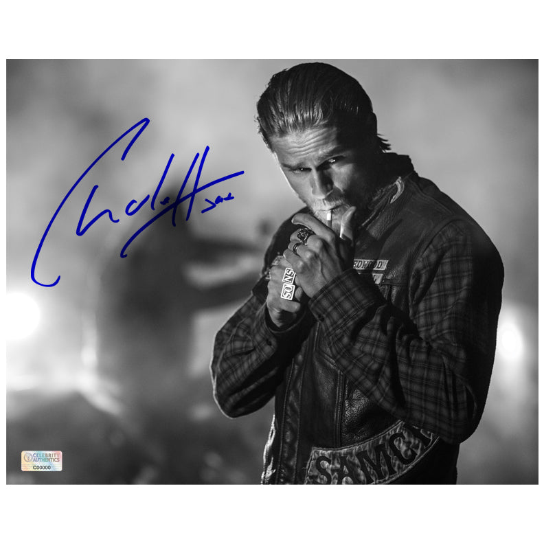 Charlie Hunnam Autographed Sons of Anarchy Night Run 8x10 Photo