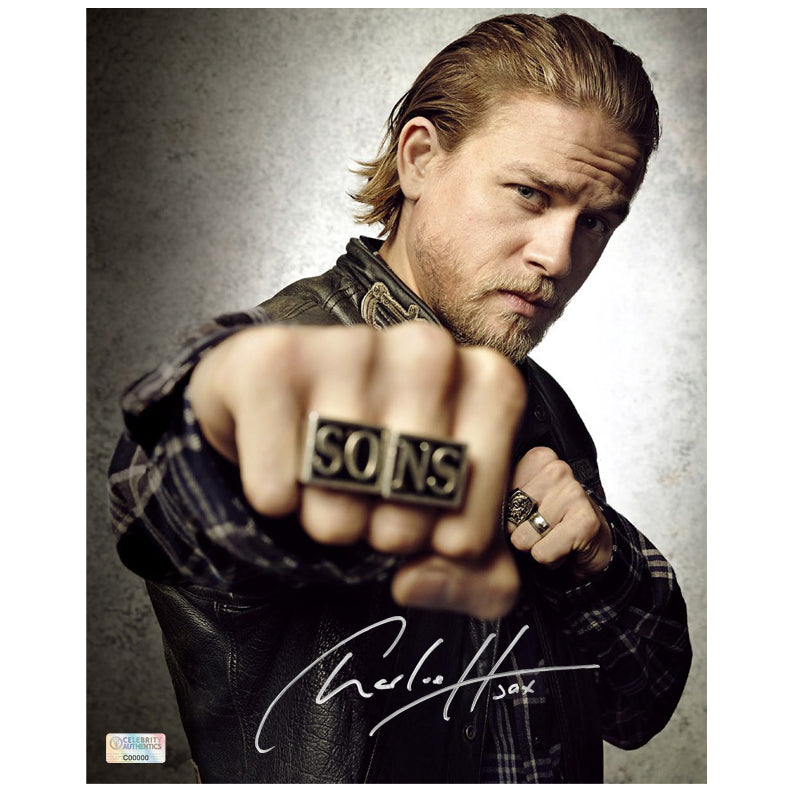 Charlie Hunnam Autographed Sons of Anarchy Jax Rings 8x10 Photo