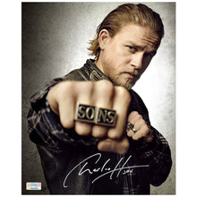 Load image into Gallery viewer, Charlie Hunnam Autographed Sons of Anarchy Jax Rings 8x10 Photo