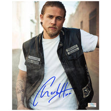 Load image into Gallery viewer, Charlie Hunnam Autographed Sons of Anarchy Redwood Original 8x10 Studio Photo