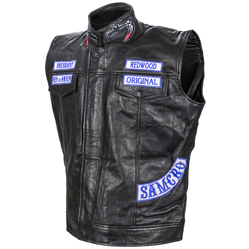 Charlie Hunnam Autographed Sons of Anarchy SAMCRO Leather Vest