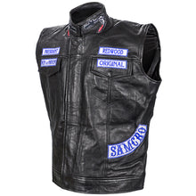 Load image into Gallery viewer, Charlie Hunnam Autographed Sons of Anarchy SAMCRO Leather Vest