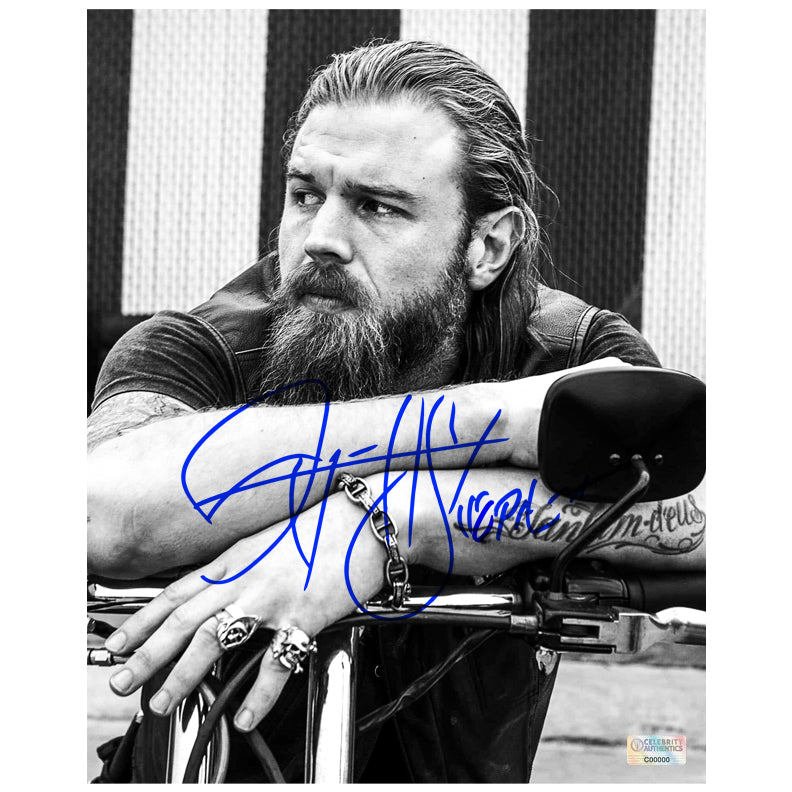Ryan Hurst Autographed Sons of Anarchy Opie 8×10 Black & White Portrait Photo