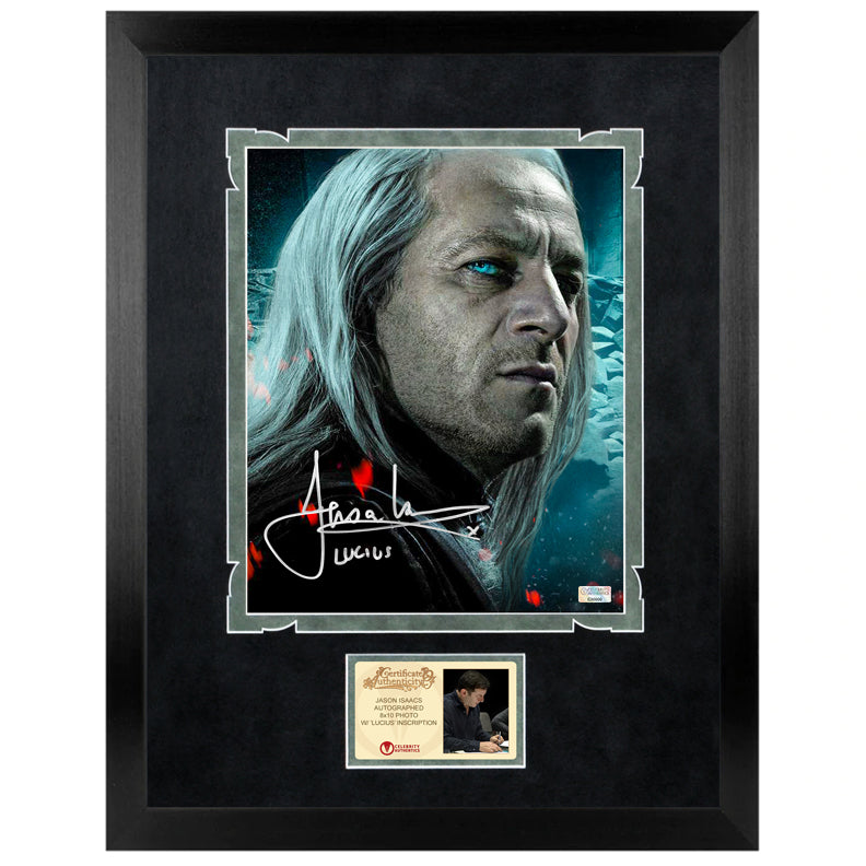 Jason Isaacs Autographed Harry Potter Lucius Mafloy 8x10 Close Up Photo