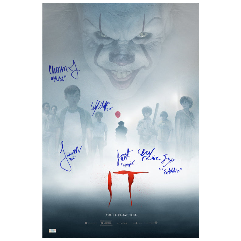 Bill Skarsgård and IT Cast Autographed IT Pennywise 16x24 Poster PRE-ORDER