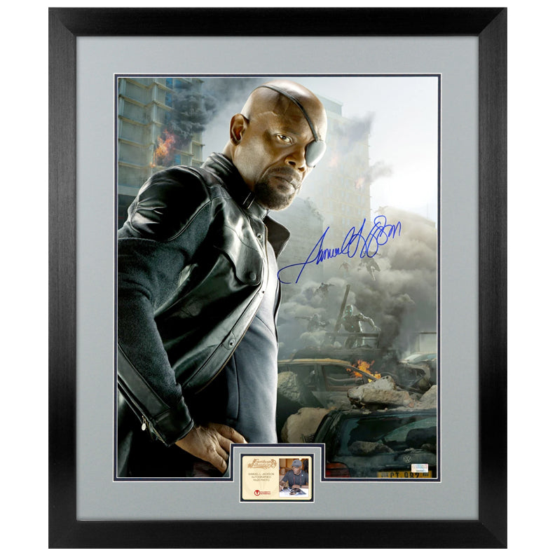 Samuel L. Jackson Autographed The Avengers: Age of Ultron Nick Fury 16x20 Photo