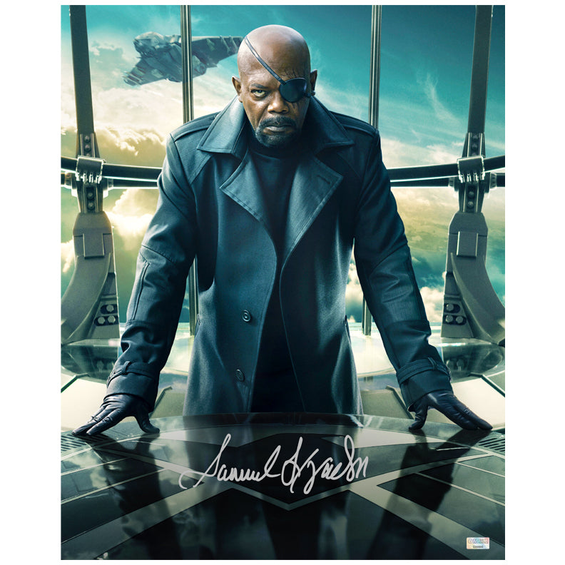 Samuel L. Jackson Autographed Captain America Winter Soldier Nick Fury 16x20 Photo