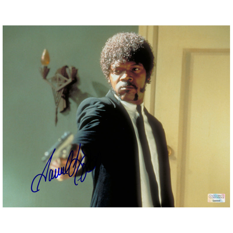 Samuel L. Jackson Autographed Pulp Fiction Jules Winfield 8x10 Scene Photo
