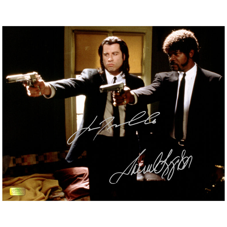 Samuel L. Jackson, John Travolta Autographed Pulp Fiction Hitmen 11x14 Photo