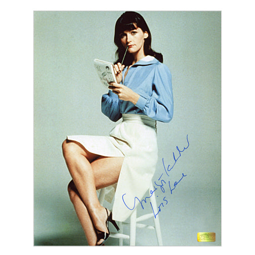 Margot Kidder Autographed Superman Lois Lane Notes 8x10 Photo