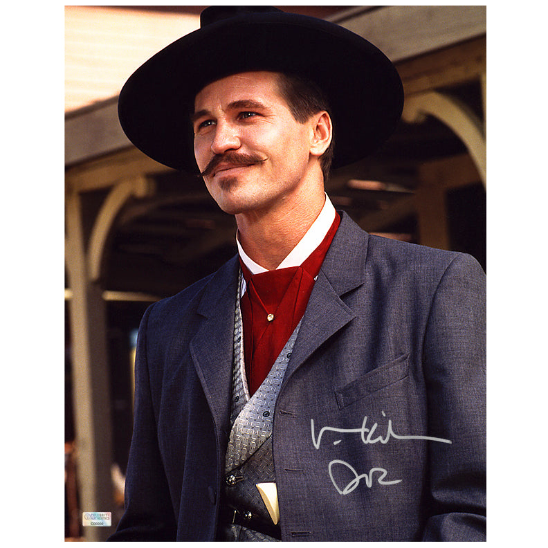 Val Kilmer Autographed Tombstone Doc Holliday 11x14 Photo