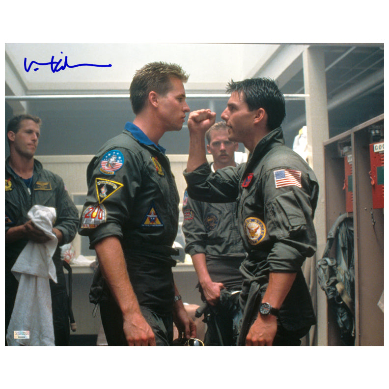 Val Kilmer Autographed Top Gun Face Off 16×20 Photo