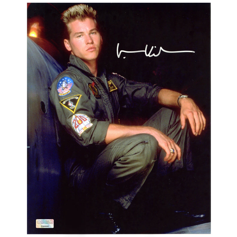 Val Kilmer Autographed Top Gun Iceman 8x10 Portrait Photo