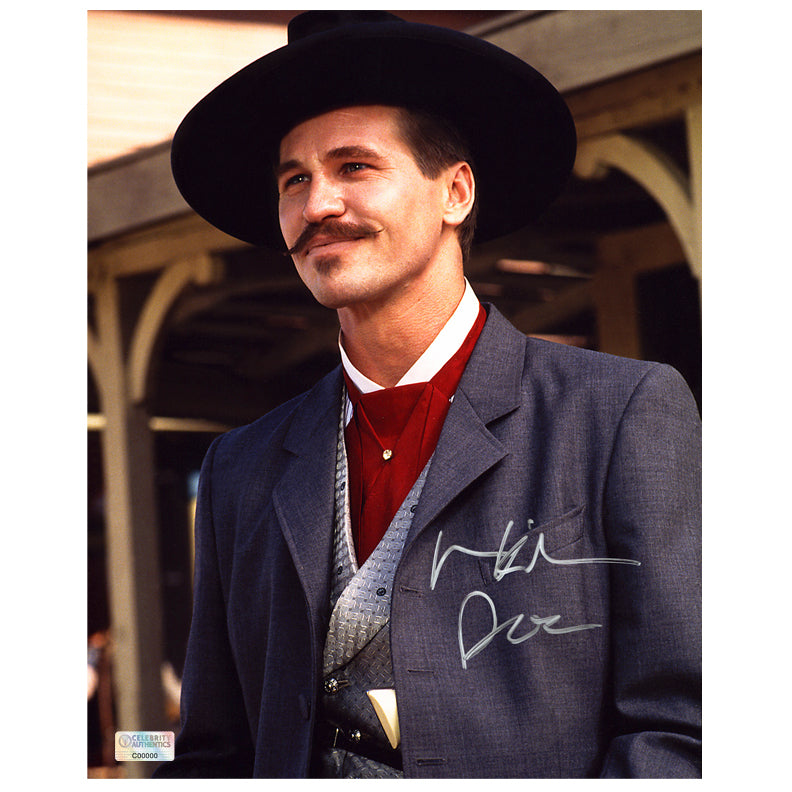 Val Kilmer Autographed Tombstone Doc Holliday OK Corral 8×10 Photo
