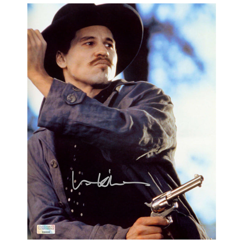 Val Kilmer Autographed Tombstone Doc Holliday 8×10 Scene Photo