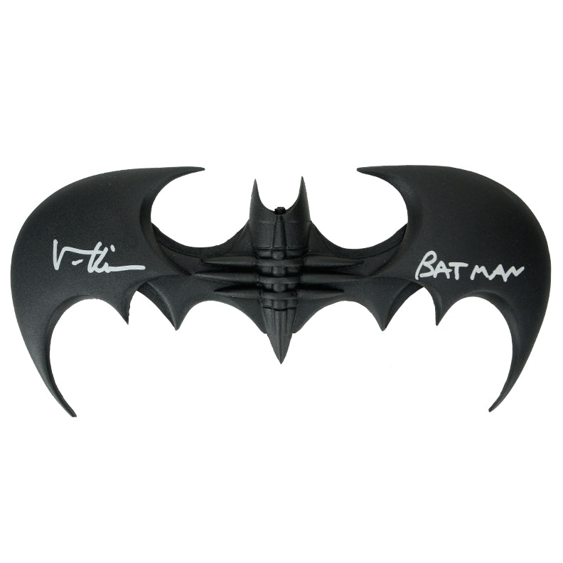 Val Kilmer Autographed Batman Forever Batarang with Batman Inscription