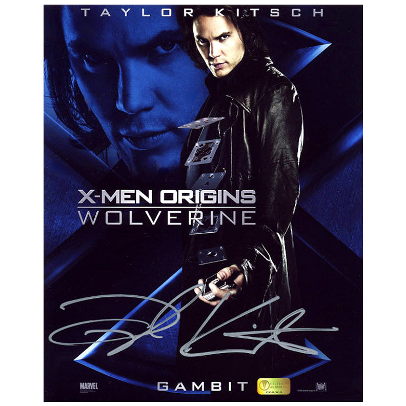 Taylor Kitsch Autographed X-Men Wolverine Gambit 8x10 Poster