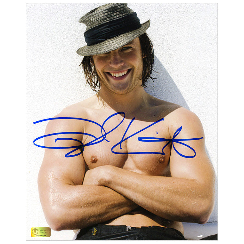 Taylor Kitsch Autographed Men's Health Hat 8x10 Photo