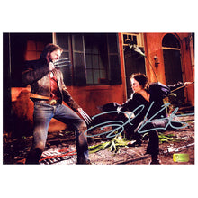 Load image into Gallery viewer, Taylor Kitsch Autographed X-Men Gambit Hugh Jackman 8x12 Photo