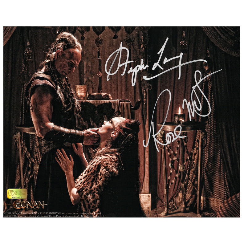 Rose McGowan and Stephen Lang Autographed Conan the Barbarian Marique and Zym Promise 8×10 Photo