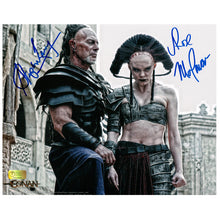 Load image into Gallery viewer, Rose McGowan and Stephen Lang Autographed Conan the Barbarian Marique and Zym 8×10 Scene Photo