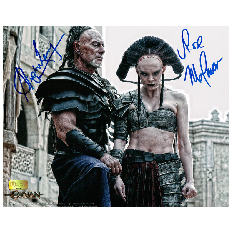 Rose McGowan and Stephen Lang Autographed Conan the Barbarian Marique and Zym 8×10 Scene Photo