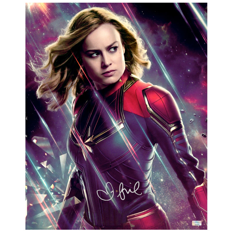 Brie Larson Autographed Avengers: Endgame Captain Marvel 16x20 Photo