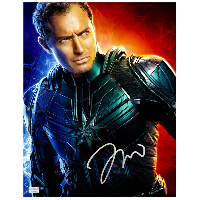 Jude Law Autographed Captain Marvel Yon-Rogg 11x14 Photo