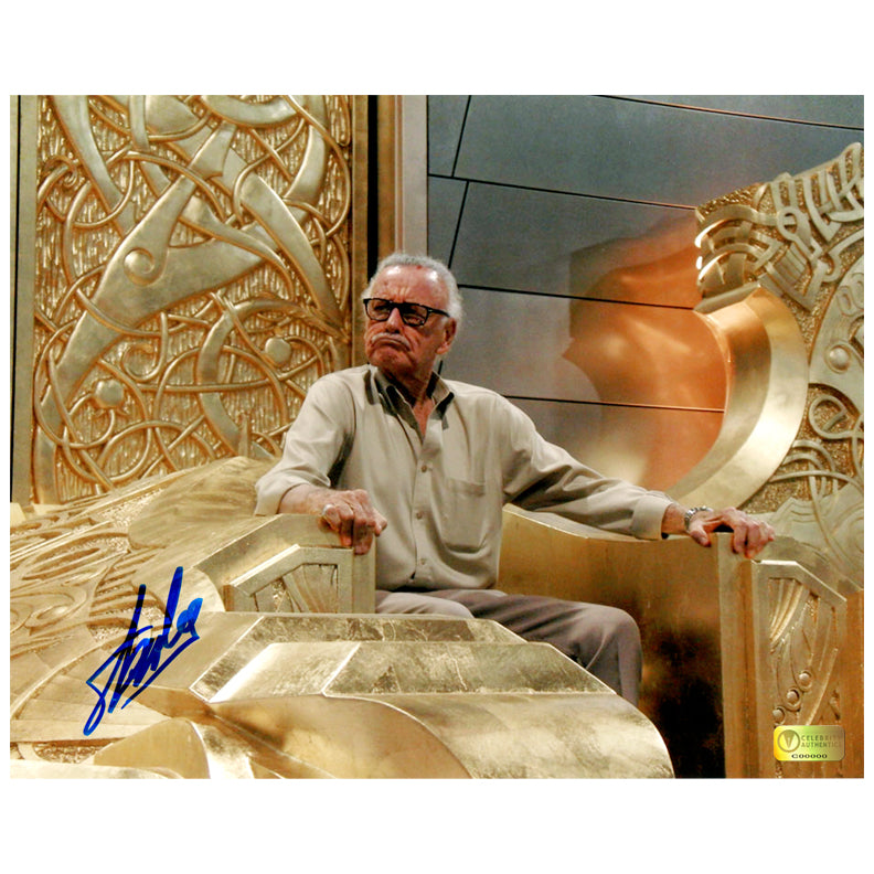 Stan Lee Autographed King of Asgard 8x10 Photo