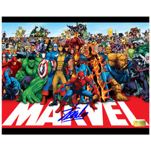Load image into Gallery viewer, Stan Lee Autographed Marvel Heroes 8x10 Photo