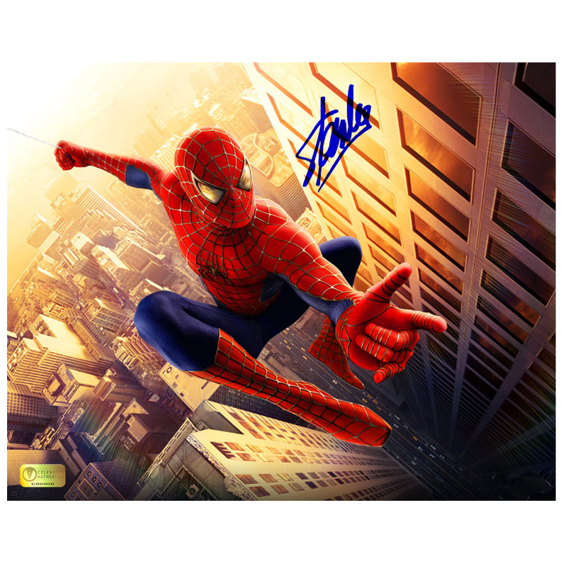Stan Lee Autographed Spider-Man 8x10 Photo