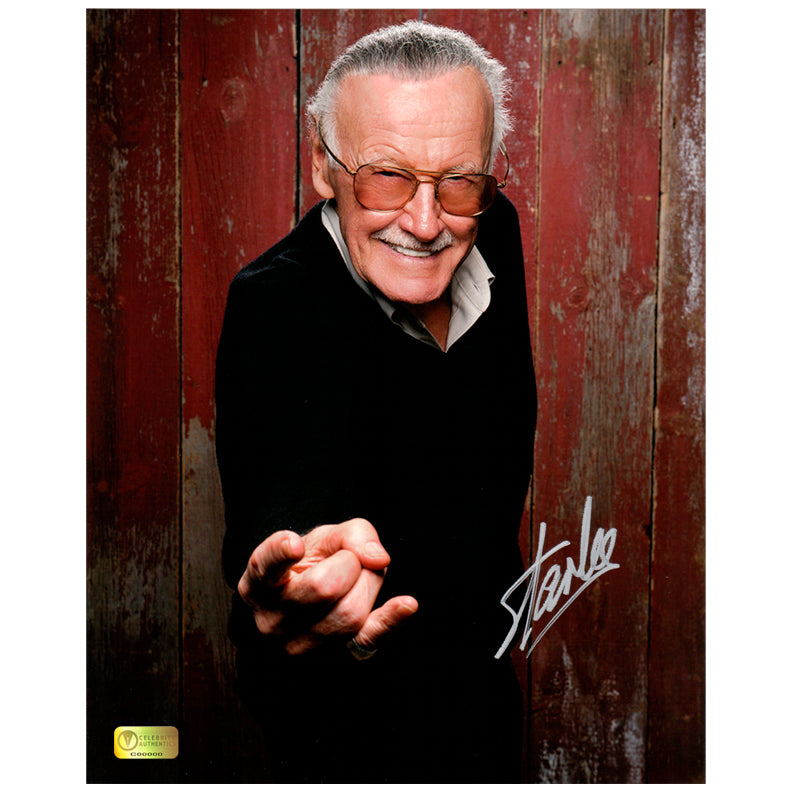 Stan Lee Autographed Web Slinger 8x10 Photo