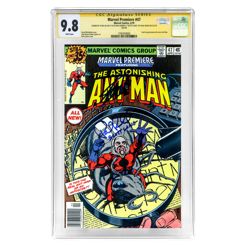 Stan Lee, Paul Rudd Autographed Marvel Premiere Astonishing Ant-Man #47 CGC SS 9.8