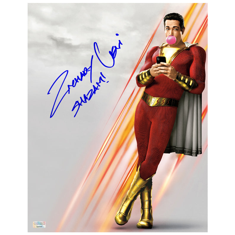 Zachary Levi Autographed Shazam! 11x14 Photo