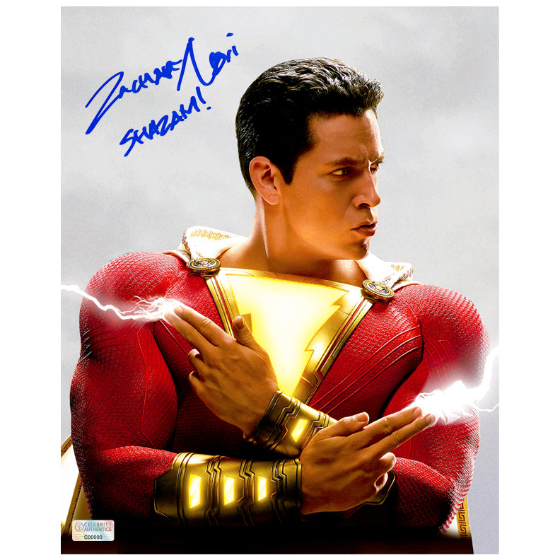 Zachary Levi Autographed Shazam! Sparkle Fingers 8x10 Photo