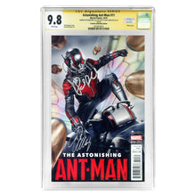 Load image into Gallery viewer, Paul Rudd and Evangeline Lilly Autographed Ant-Man #11 Celebrity Authentics Variant CGC SS 9.8